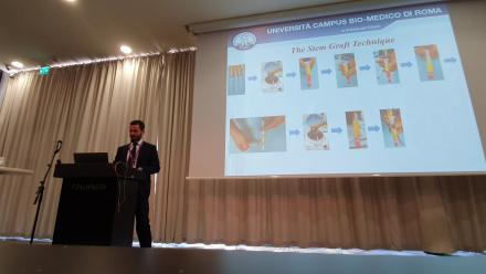 """La tecnica dello """"Stem Graft"""", inventata dal Dr. Segreto, presentata al congresso ERC 2019"""