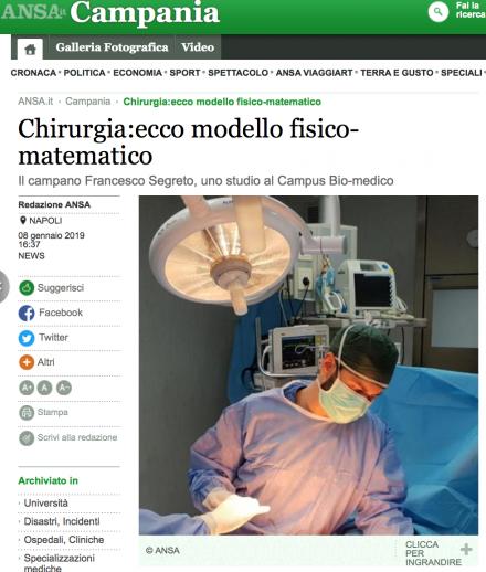 Chirurgia: ecco modello fisico-matematico